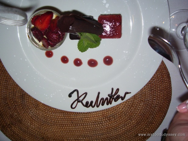 Signature dessert, indeed. South Africa, September 2007.