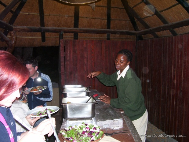 Delicious traditional African cooking. Kruger National Park, South Africa, September 2007.