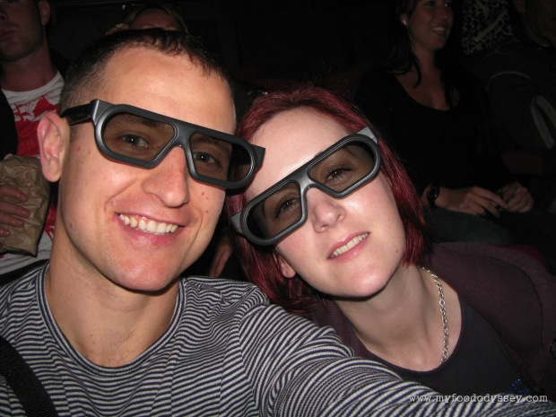Us at Avatar in 3D. Wonder what the food's like on Pandora... Australia, Christmas 2009/10.