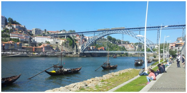 The railway and car bridges, Porto.