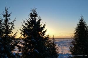 Winter Sunrise. Lithuania | www.myfoododyssey.com