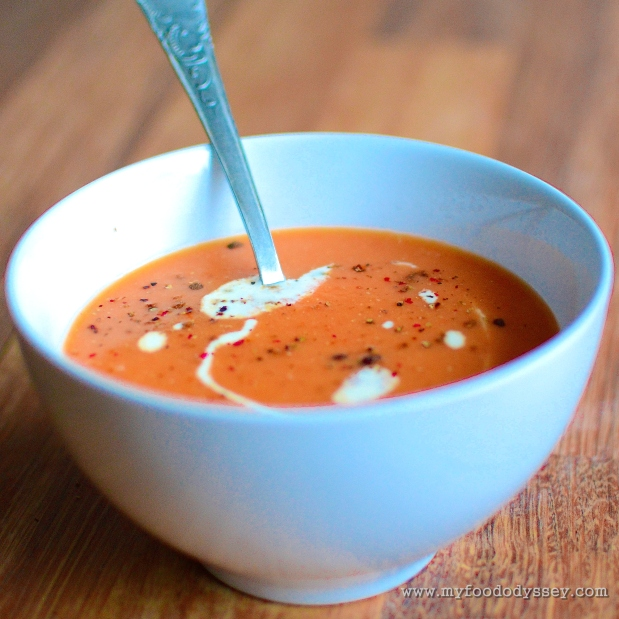 Tomato & Lentil Soup | www.myfoododyssey.com