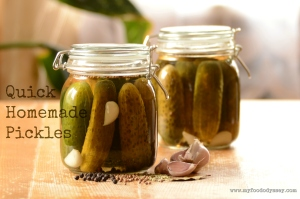 Quick Homemade Pickles | www.myfoododyssey.com