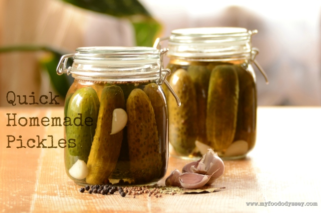 Quick Homemade Pickles   www.myfoododyssey.com