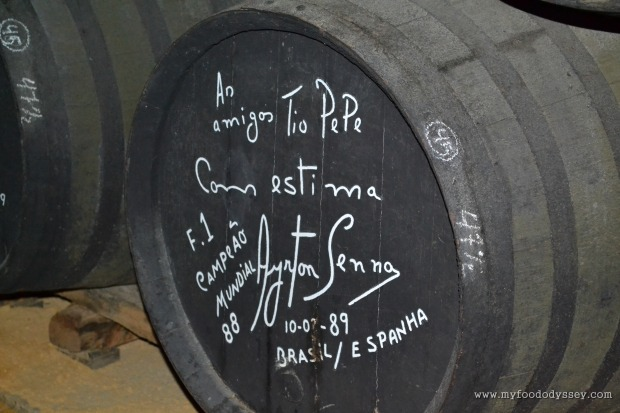 Ayrton Senna barrel at Tio Pepe | www.myfoododyssey.com