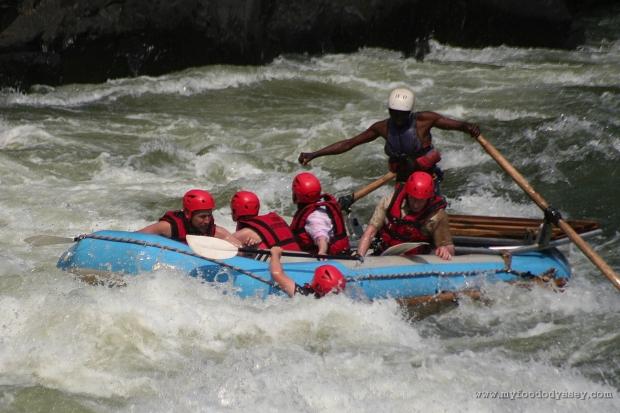 White water rafting, Zambezi | www.myfoododyssey.com