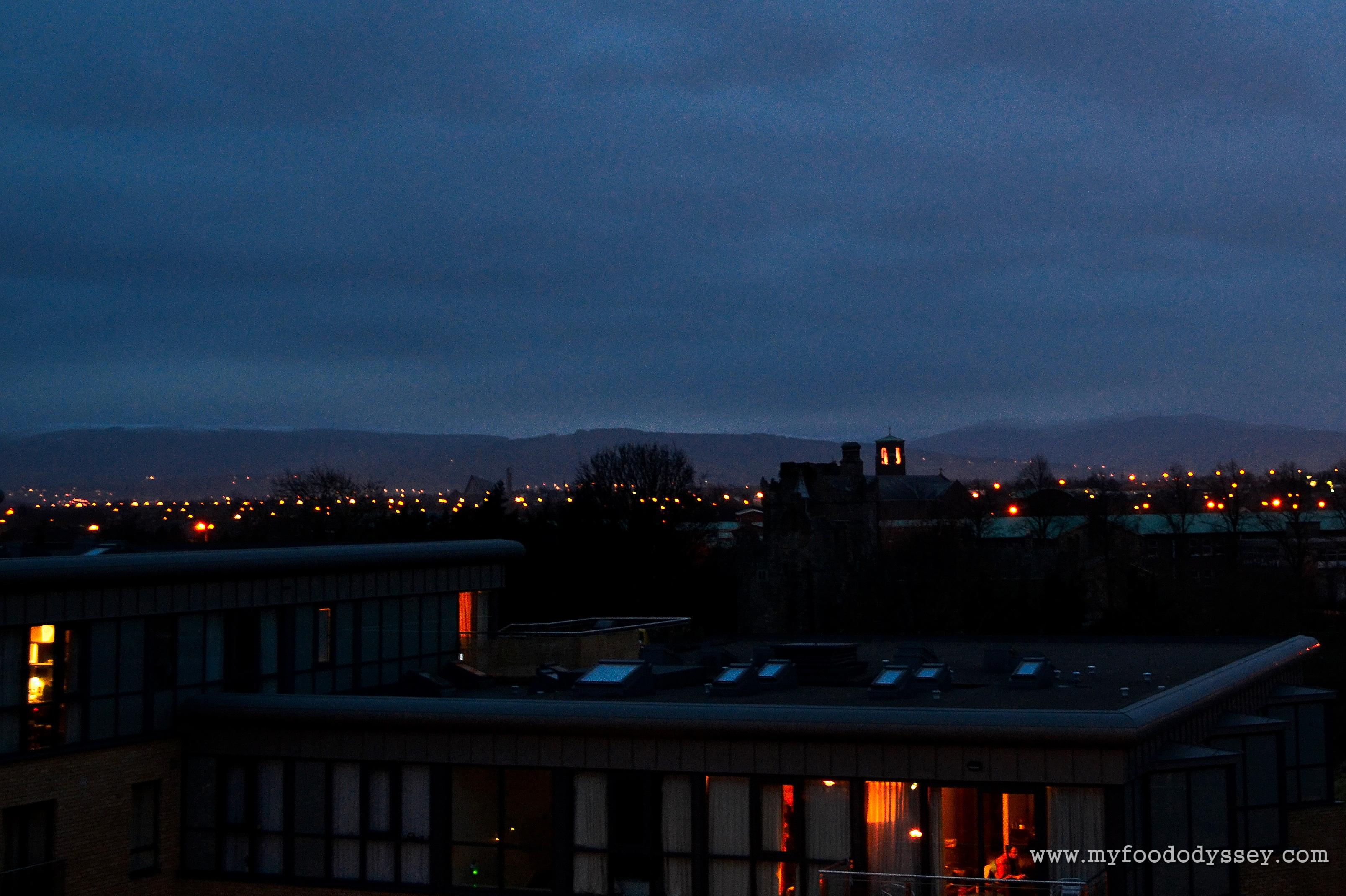 Dublin Night View Suburban Dublin at Night