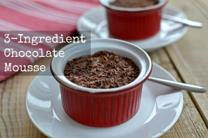 3 Ingredient Chocolate Mousse | www.myfoododyssey.com