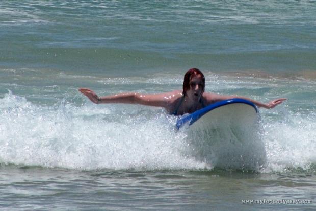 Surfing on Manly Beach in Sydney, Australia   www.myfoododyssey.com