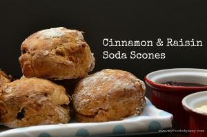 Cinnamon Raisin Soda Scones | www.myfoododyssey.com