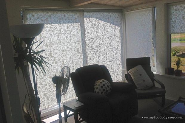 IKEA LISELOTT roller blinds | www.myfoododyssey.com