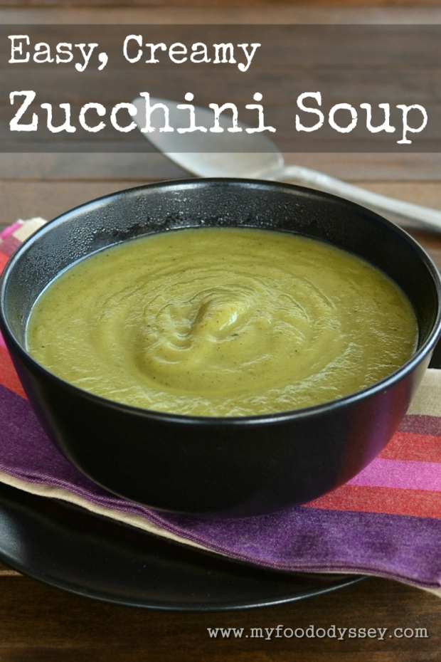 Zucchini / Courgette Soup | www.myfoododyssey.com
