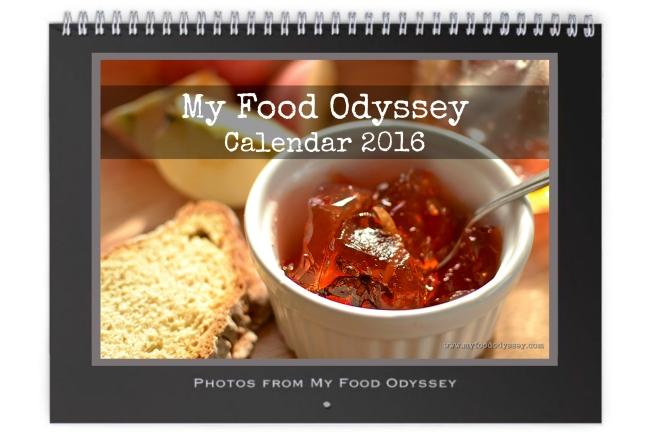 Calendar 2016   www.myfoododyssey.com
