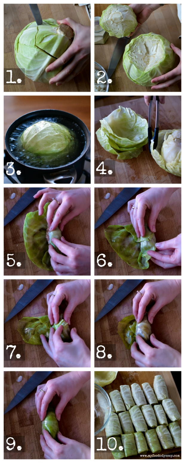 Lithuanian Cabbage Rolls | Balandėliai [Recipe] Step-By-Step | www.myfoododyssey.com