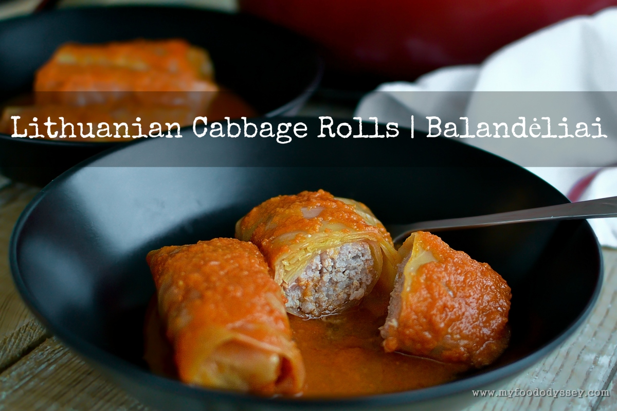 Lithuanian cabbage rolls balandliai recipe my food odyssey forumfinder Image collections