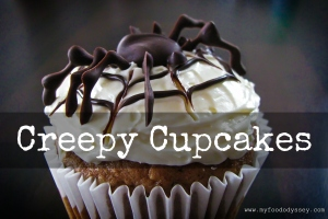 Creepy Pumpkin Cupcakes | www.myfoododyssey.com