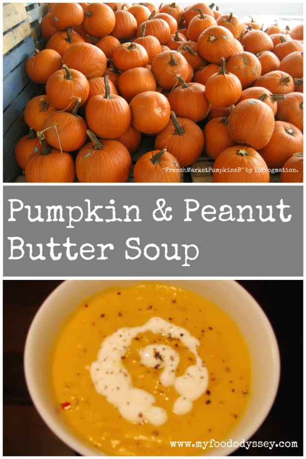 Pumpkin & Peanut Butter Soup | www.myfoododyssey,com