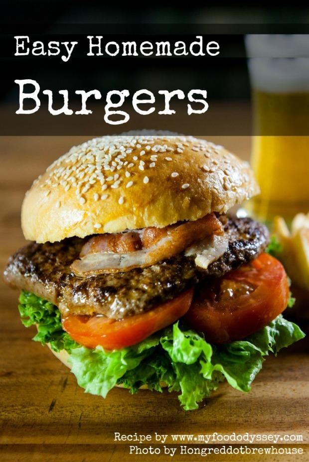 Easy Homemade Burgers | www.myfoododyssey.com