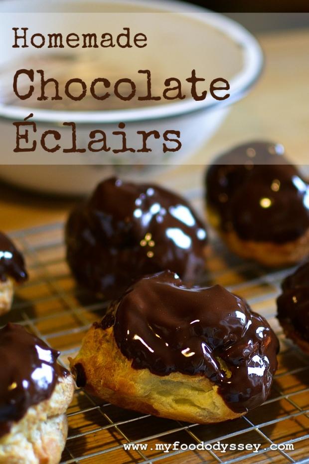 Chocolate Eclairs | www.myfoododyssey.com