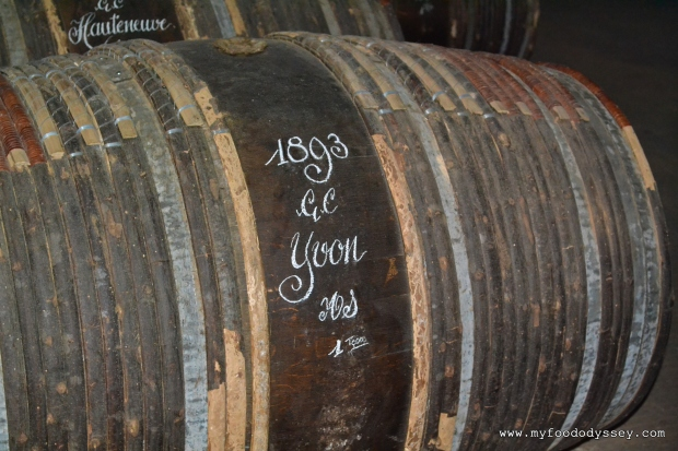 Brandy Barrel at Hennessy Cognac, France | www.myfoododyssey.com
