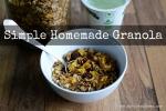 Homemade Granola | www.myfoododyssey.com