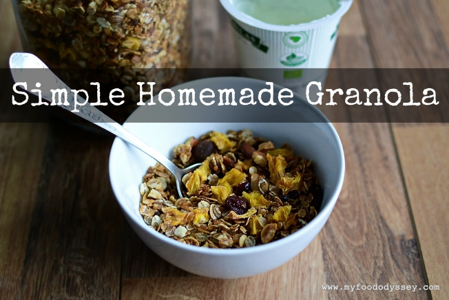 Simple Homemade Granola | www.myfoododyssey.com