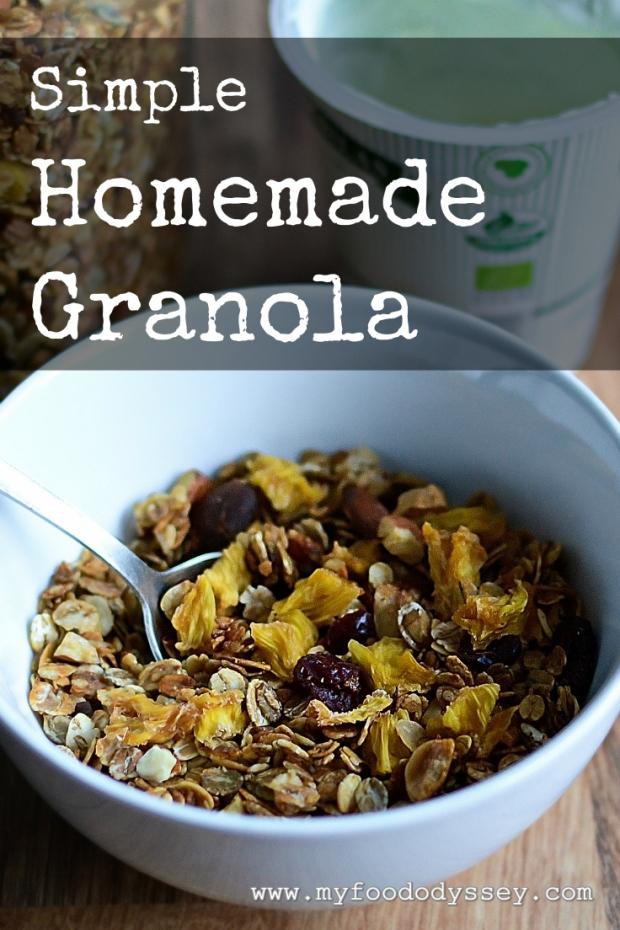 Simple Homemade Granola | www.myfoododyssey.com