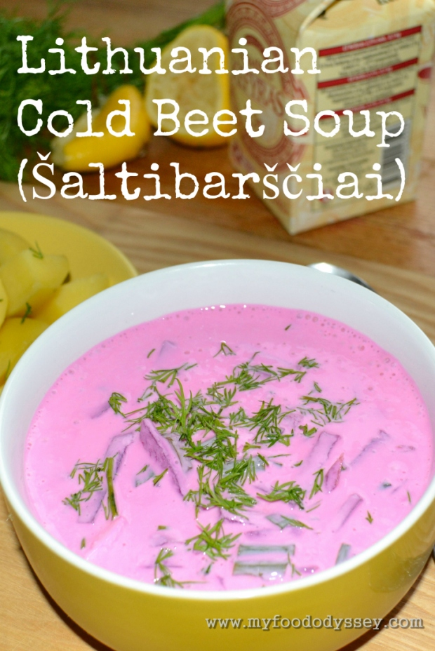 Lithuanian Cold Beet Soup | www.myfoododyssey.com