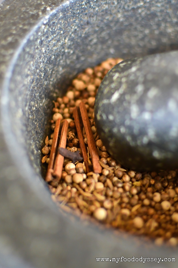 Grinding Spices   www.myfoododyssey.com