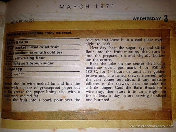 Mam's Barn Brack Recipe | www.myfoododyssey.com