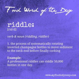 Food Word of the Day: Riddle | www.myfoododyssey.com