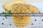 Salt, Pepper & Rosemary Cheese Crackers | www.myfoododyssey.com