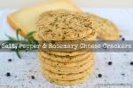 Salt, Pepper & Rosemary Cheese Crackers | www.myfoododyssey.com