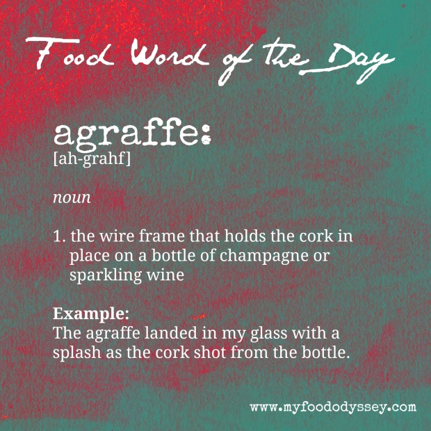 Food Word of the Day: Agraffe | www.myfoododyssey.com