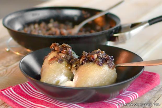 Lithuanian Cepelinai (Potato Dumplings) | www.myfoododyssey.com