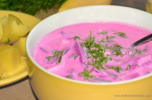 Lithuanian Cold Beet Soup (Saltibarsciai) | www.myfoododyssey.com