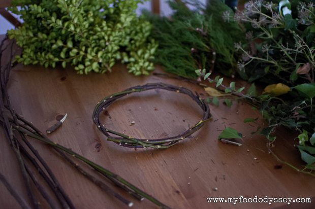 Homemade wreath ring | www.myfoododyssey.com